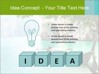 Long boat on island PowerPoint Template - Slide 80