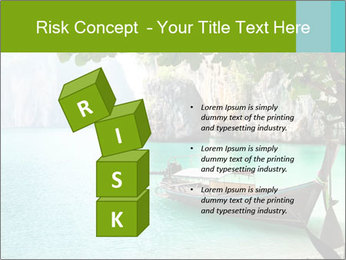 Long boat on island PowerPoint Template - Slide 81