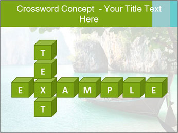 Long boat on island PowerPoint Template - Slide 82