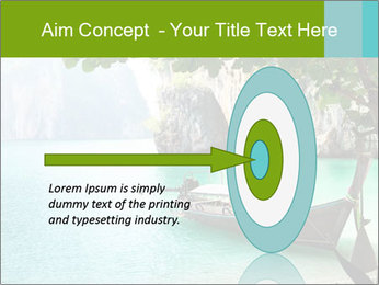 Long boat on island PowerPoint Template - Slide 83