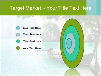 Long boat on island PowerPoint Template - Slide 84