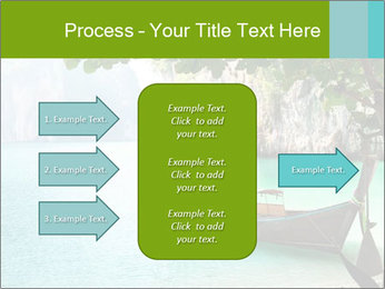 Long boat on island PowerPoint Template - Slide 85