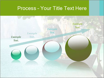 Long boat on island PowerPoint Template - Slide 87