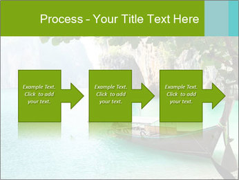 Long boat on island PowerPoint Template - Slide 88