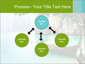 Long boat on island PowerPoint Template - Slide 91