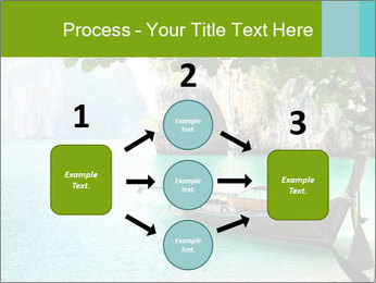 Long boat on island PowerPoint Template - Slide 92
