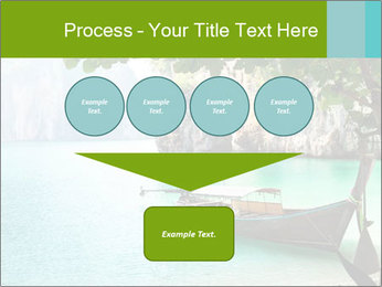 Long boat on island PowerPoint Template - Slide 93