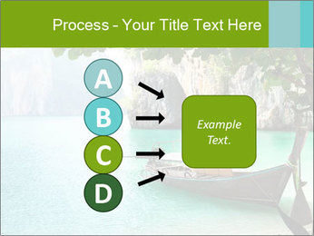 Long boat on island PowerPoint Template - Slide 94