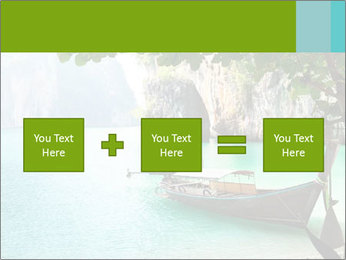 Long boat on island PowerPoint Template - Slide 95