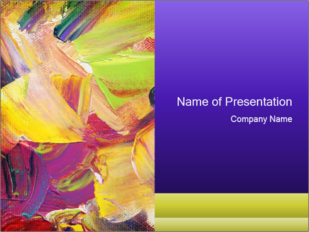 Acrylic paint PowerPoint Templates