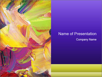 Acrylic paint PowerPoint Template
