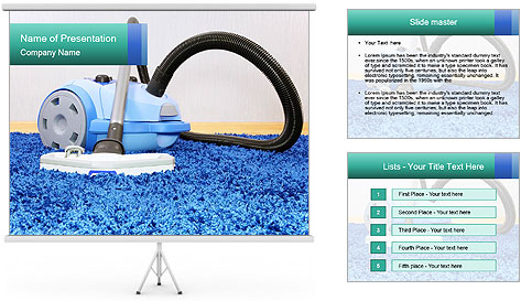 Vacuum cleaner PowerPoint Template