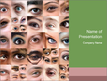 Female eyes. PowerPoint Template