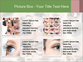 Female eyes. PowerPoint Templates - Slide 14