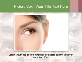 Female eyes. PowerPoint Templates - Slide 16