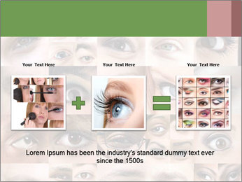 Female eyes. PowerPoint Templates - Slide 22