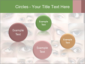 Female eyes. PowerPoint Templates - Slide 77