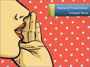 Woman gossip PowerPoint Template