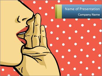 Woman gossip PowerPoint Templates - Slide 1