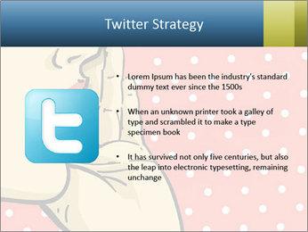 Woman gossip PowerPoint Templates - Slide 9