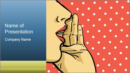 Woman gossip PowerPoint Template