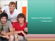 Boys drinking beer PowerPoint Templates