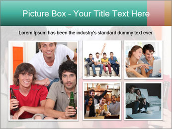 Boys drinking beer PowerPoint Template - Slide 19