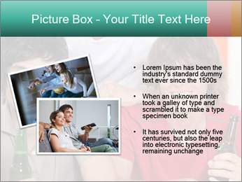 Boys drinking beer PowerPoint Template - Slide 20