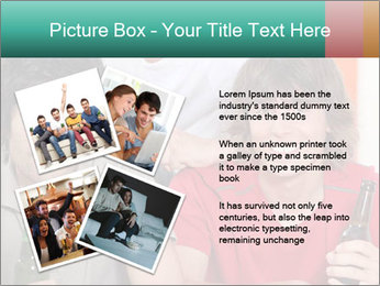 Boys drinking beer PowerPoint Template - Slide 23