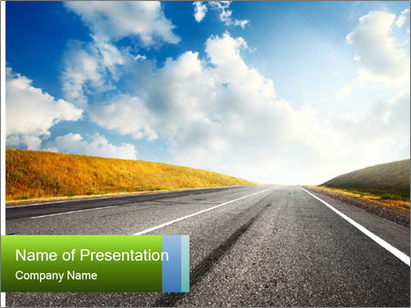 Countryside asphalt PowerPoint Templates