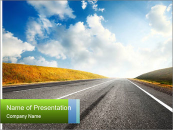 Countryside asphalt PowerPoint Templates - Slide 1