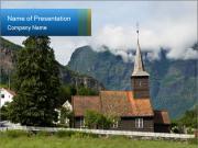 Stabkirche PowerPoint Template