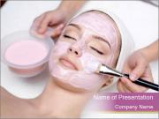 Pink facial mask PowerPoint Template