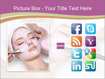 Pink facial mask PowerPoint Template - Slide 21