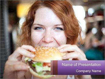 Hamburger PowerPoint Template - Slide 1