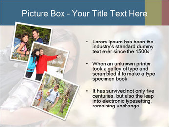 Smiling in forest PowerPoint Template - Slide 17