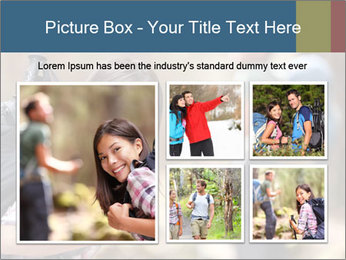 Smiling in forest PowerPoint Template - Slide 19