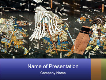 Japanese paintings PowerPoint Template - Slide 1