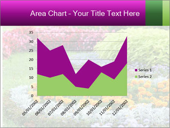 Blossoming colorful flowerbeds in summer city park PowerPoint Template - Slide 53