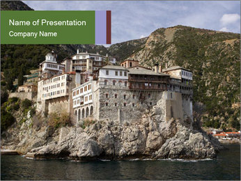 Mount Athos PowerPoint Template - Slide 1