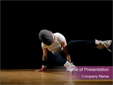 Girl in dance PowerPoint Templates