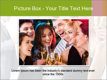 Woman at a party PowerPoint Templates - Slide 16