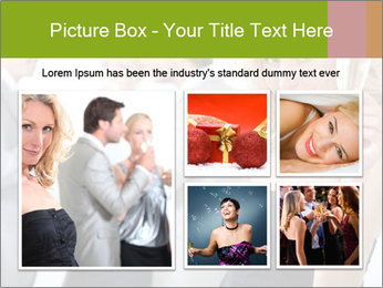 Woman at a party PowerPoint Templates - Slide 19