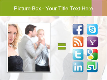 Woman at a party PowerPoint Template - Slide 21