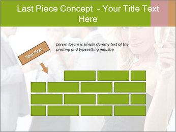 Woman at a party PowerPoint Template - Slide 46