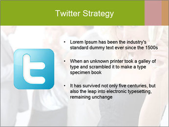 Woman at a party PowerPoint Template - Slide 9