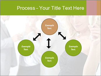 Woman at a party PowerPoint Template - Slide 91