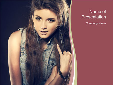 Beautiful girl PowerPoint Template