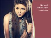 Beautiful girl PowerPoint Templates