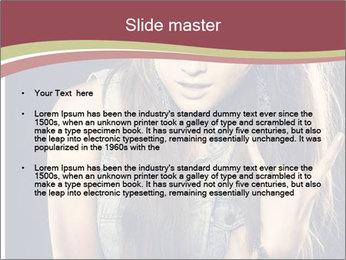 Beautiful girl PowerPoint Template - Slide 2